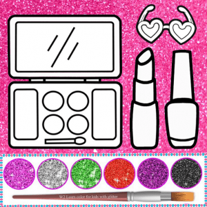 Glitter beauty coloring book