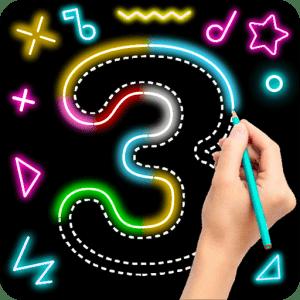 draw glow numbers